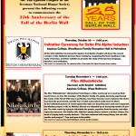 25th Anniversary of the Fall of the Wall_Events 2014